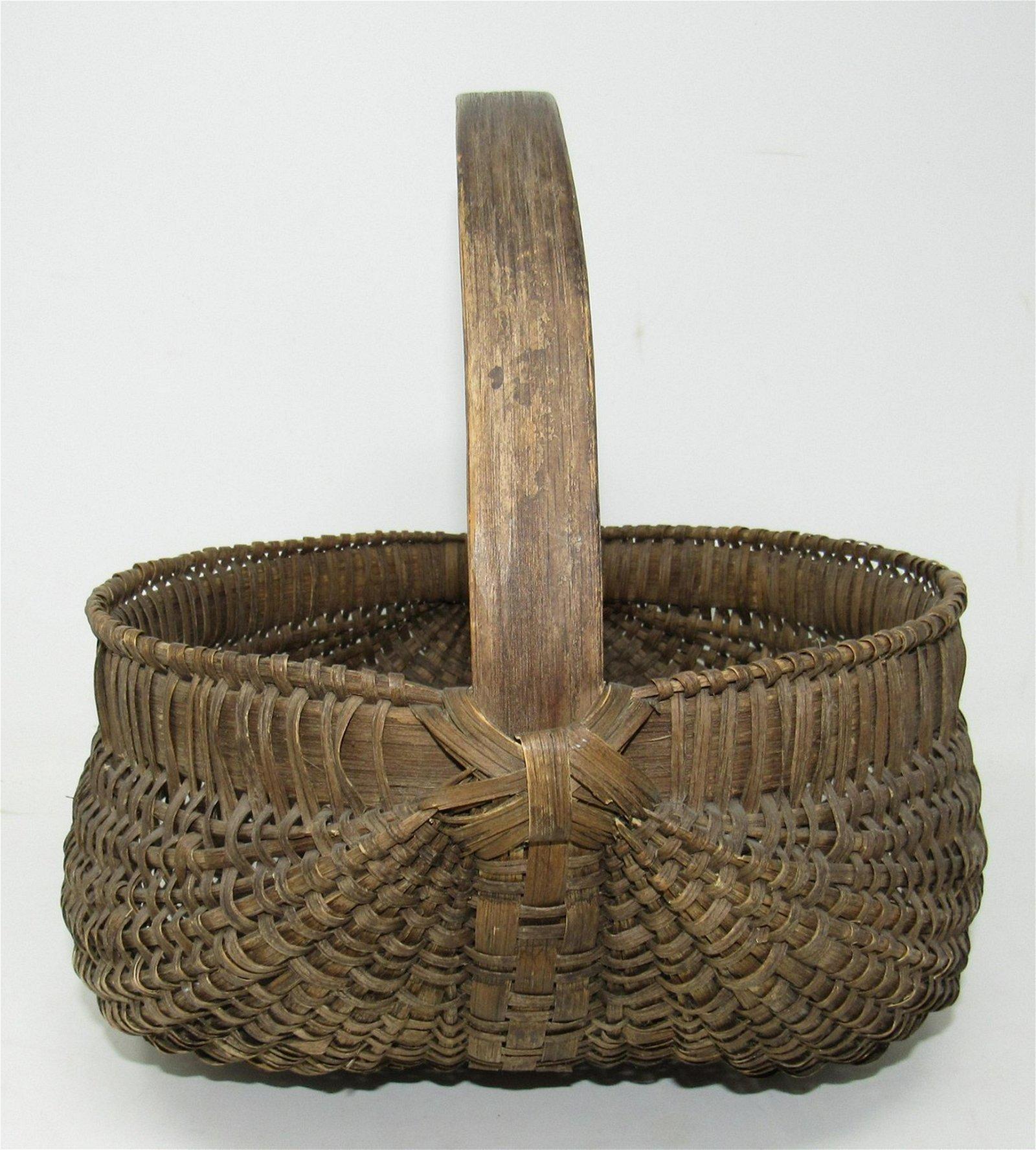 Coker Creek Crafts Early Signed Basket