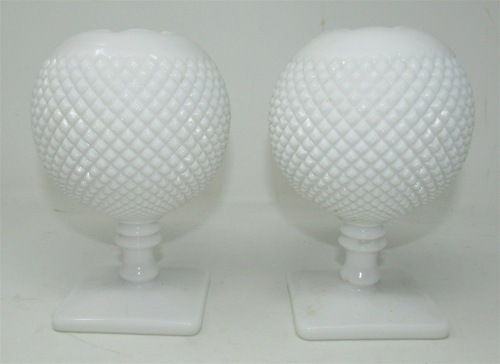 Pair of Milk Glass Vases