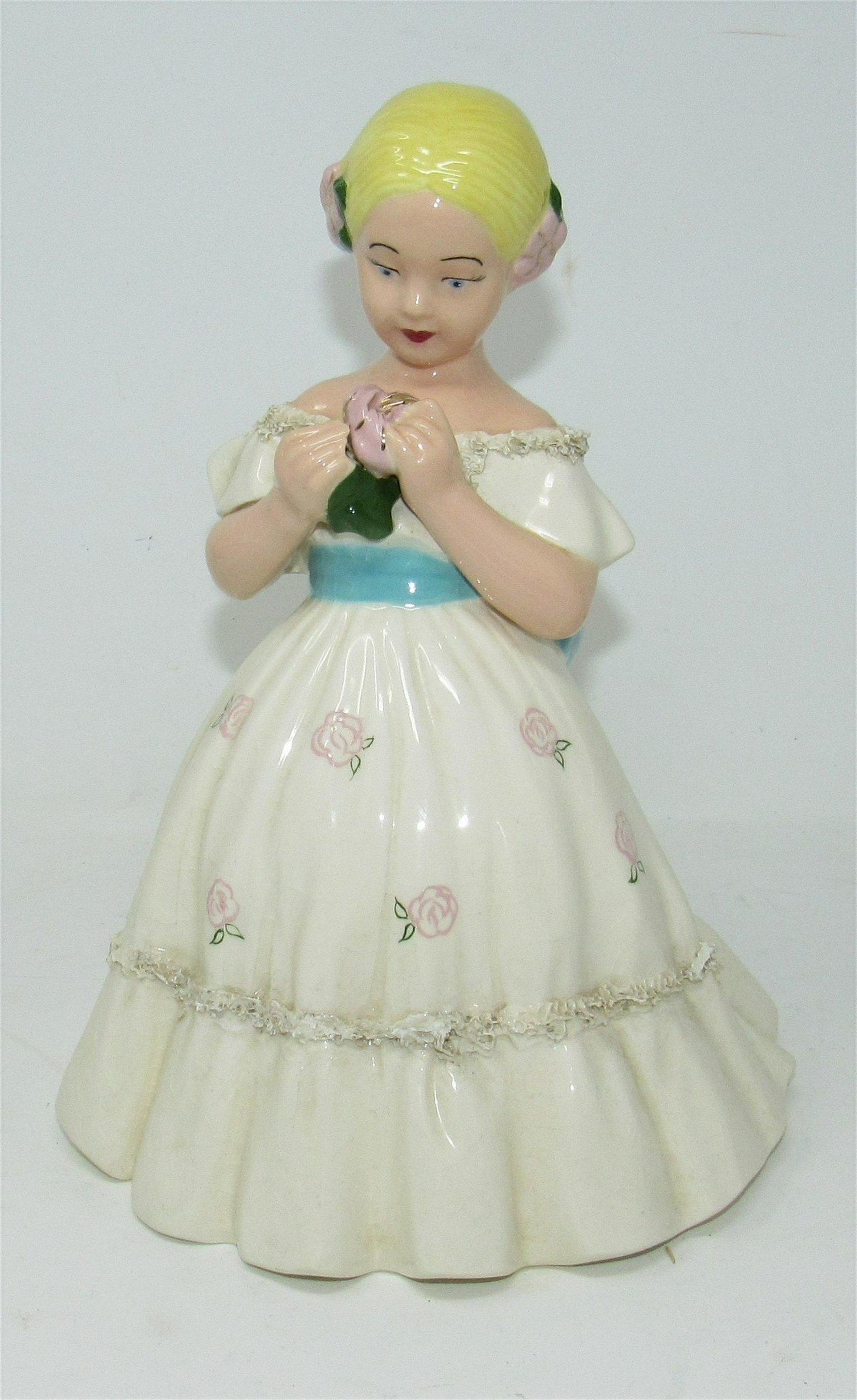 Ceramic Statue of Victorian Girl