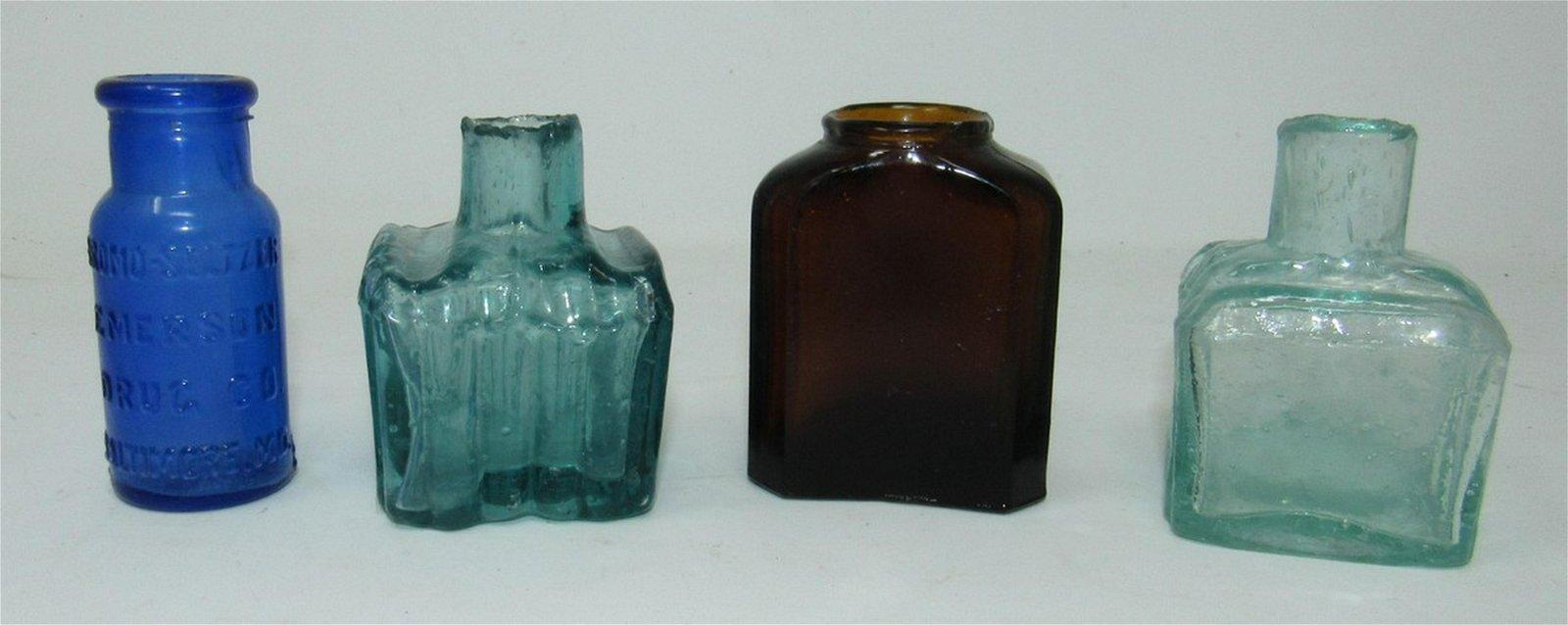 Ink and Drug Bottles