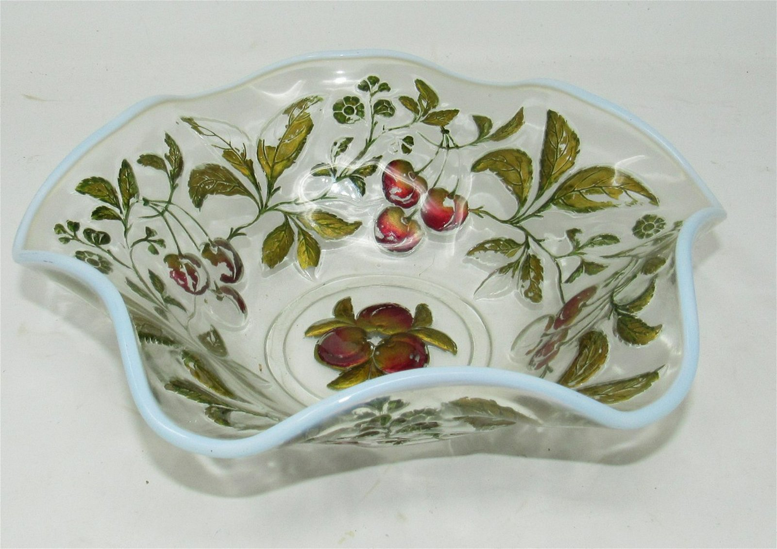 Bowl with Apple Pattern