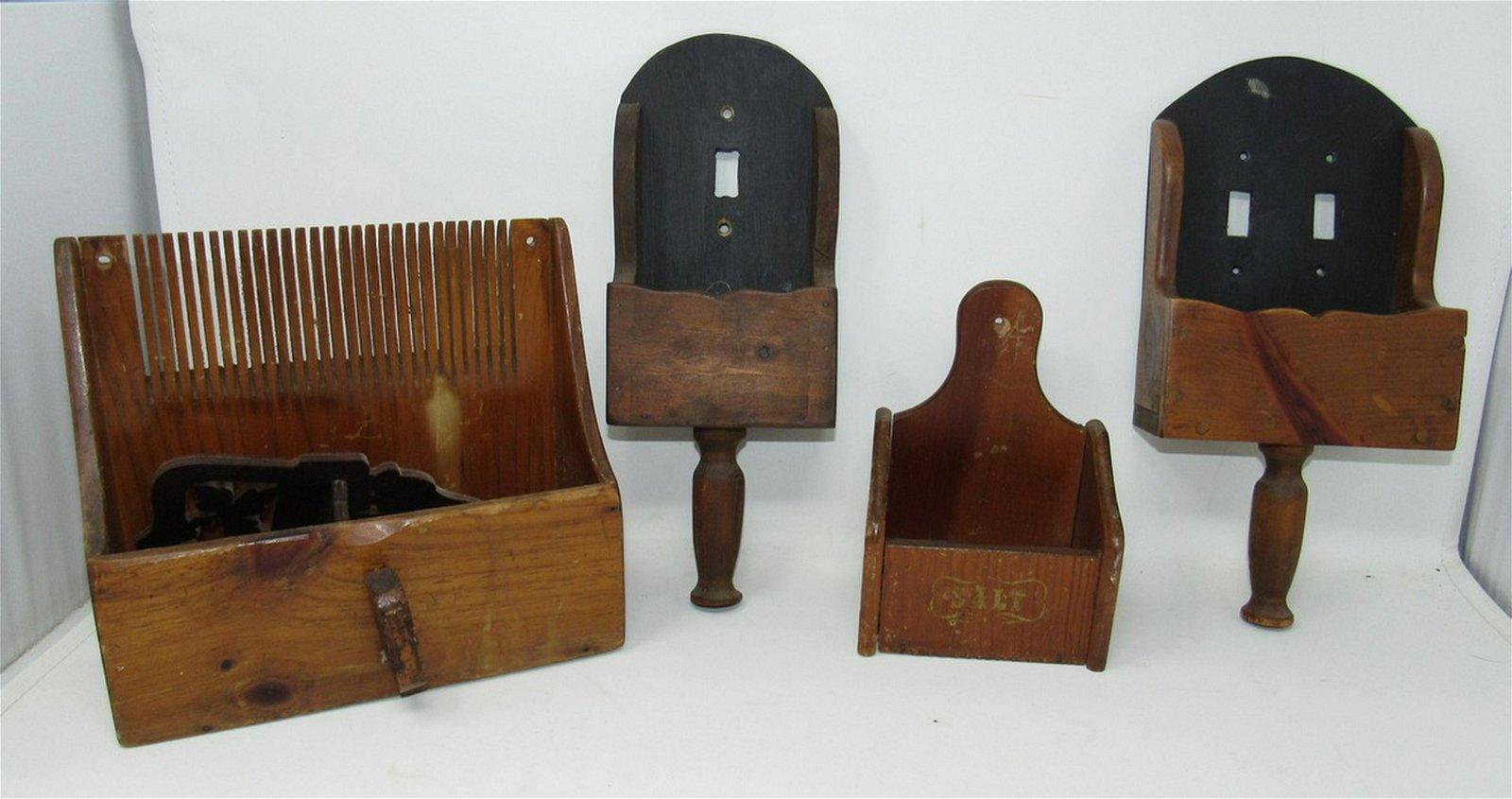 Woodenware Scoop Switch Plates Salt Box Grain Scoop
