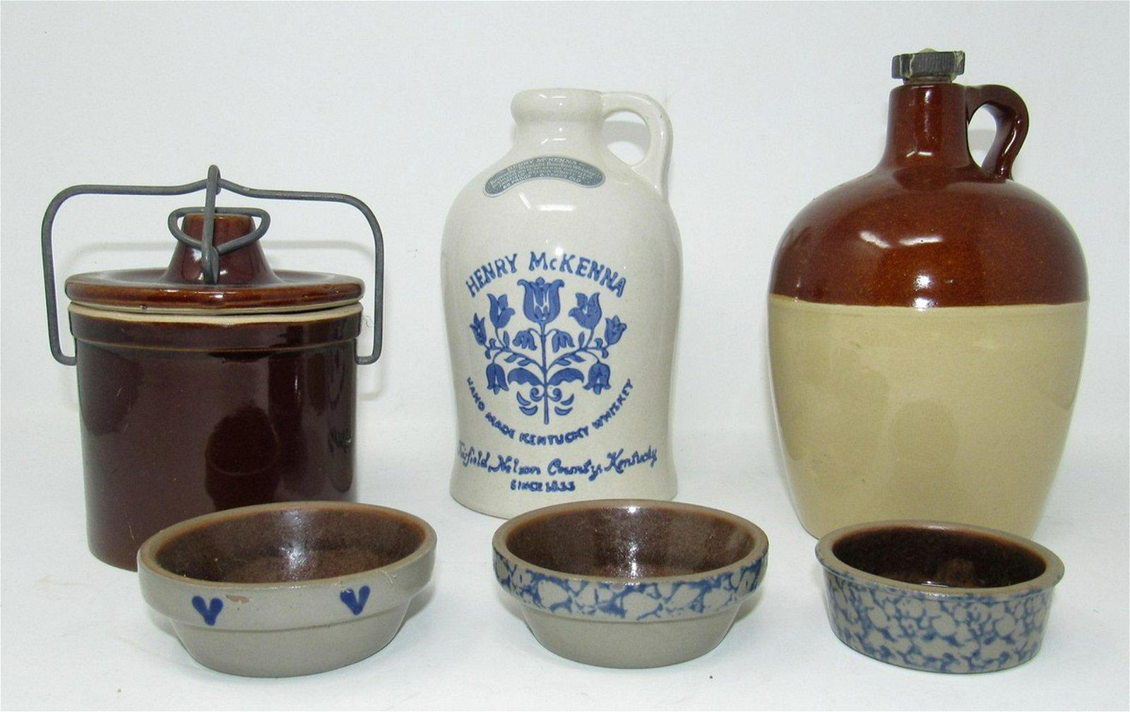 Stoneware Crock Henry McKenna Whiskey Jug