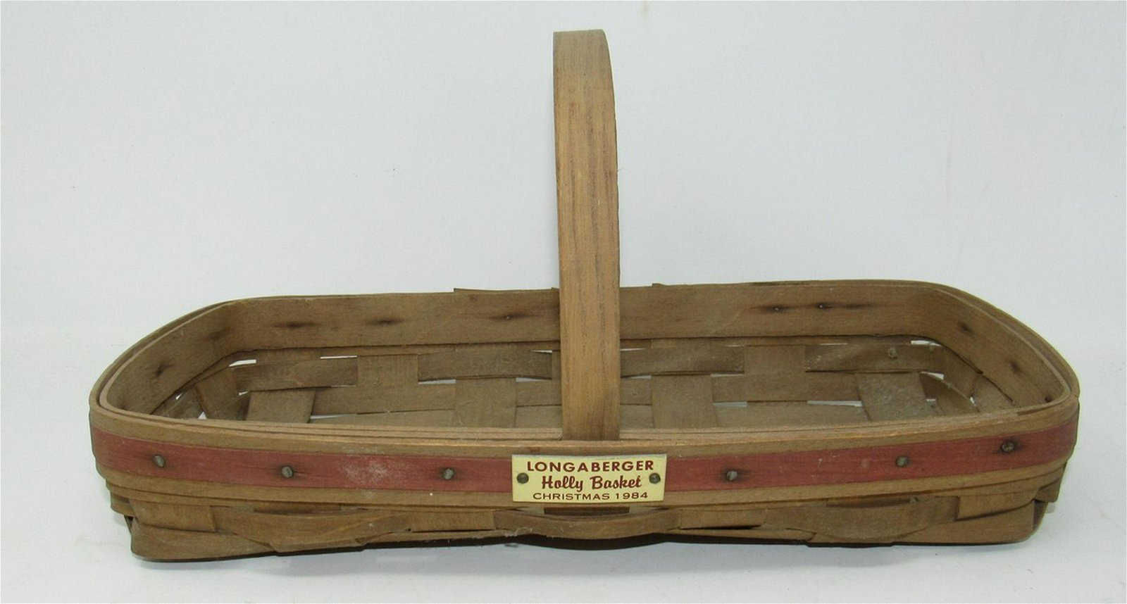 1984 Christmas Longaberger Holly Basket
