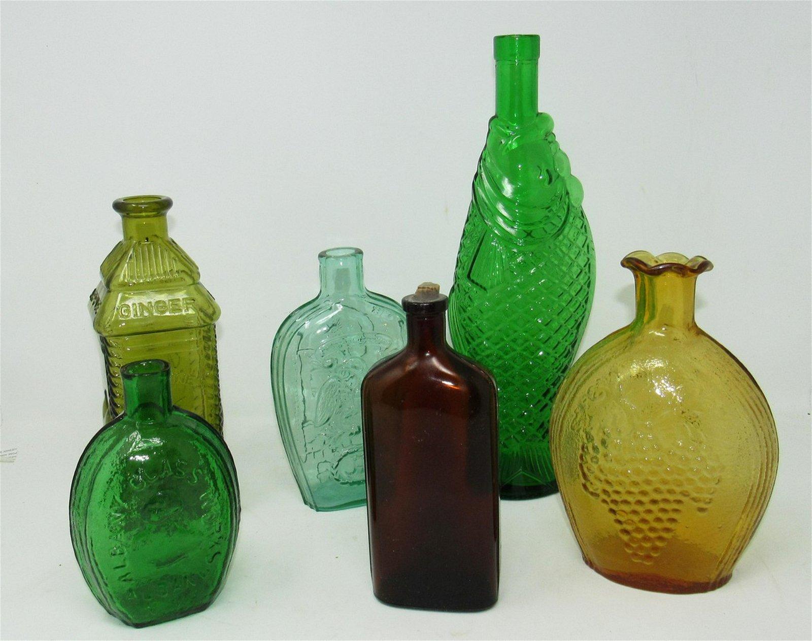 6 Bottles Albany Glass Perrine's Philadelphia