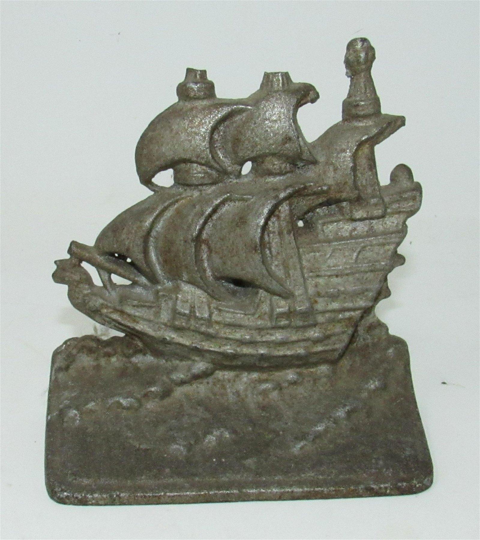 Cast Iron Ship Book End