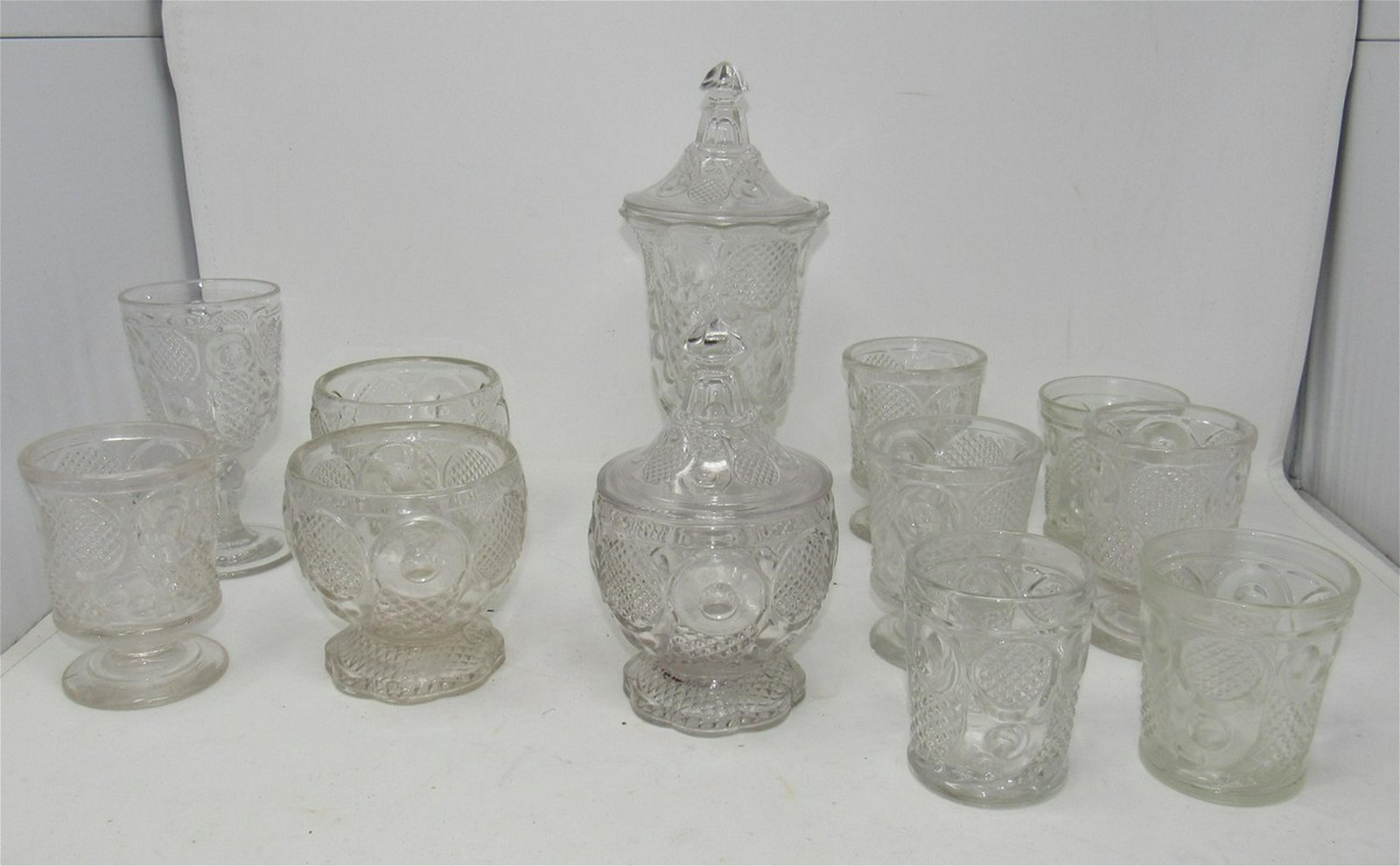 Glassware Tumblers Candy Dishes Covered Jars