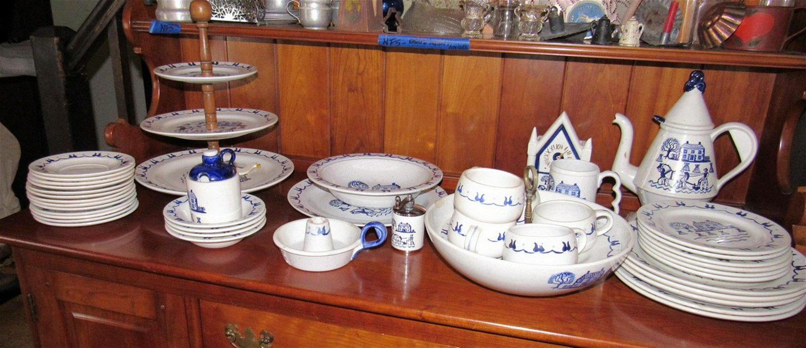 Provincial Blue Poppy Trail California Made Dinnerware