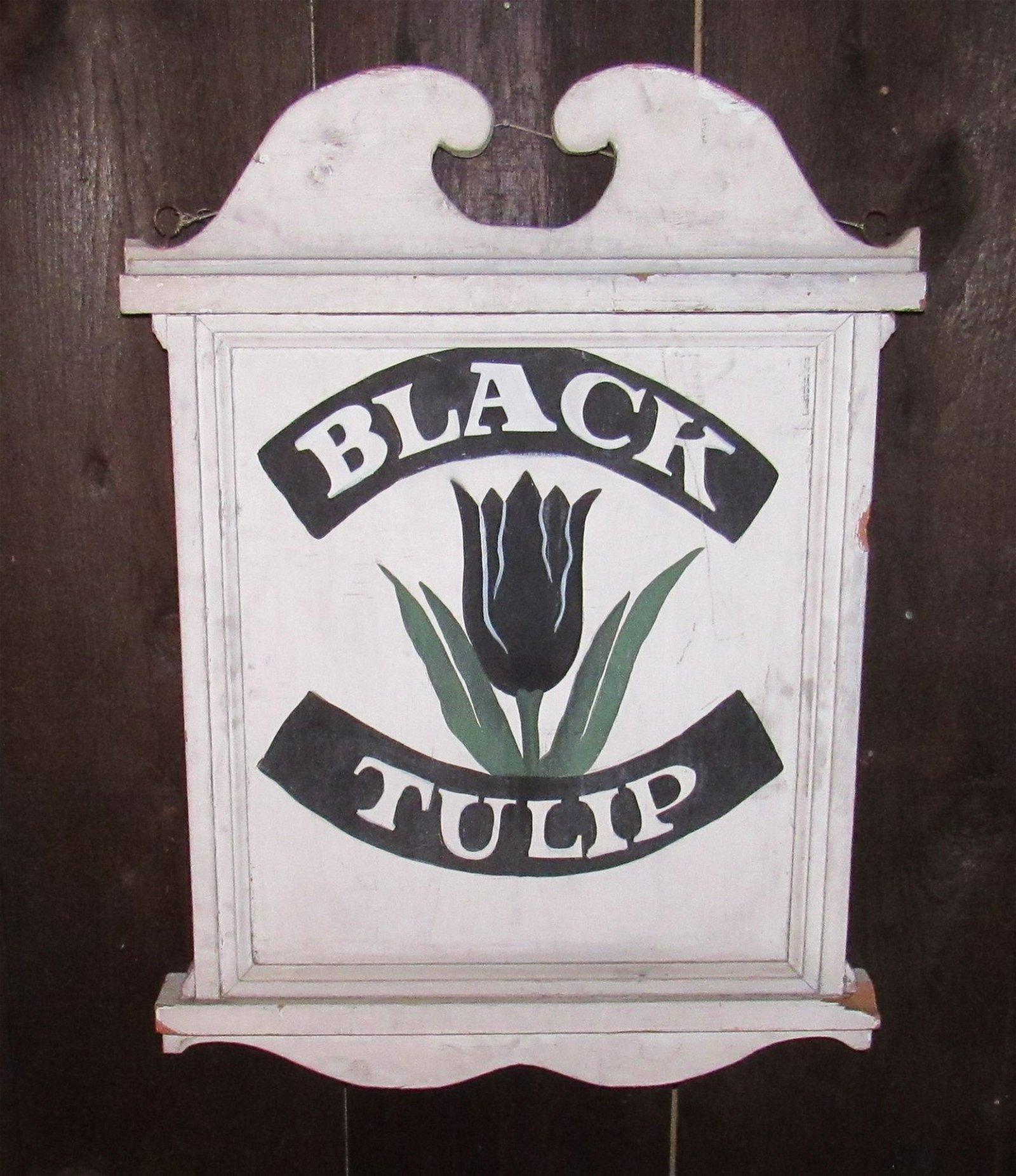 Black Tulip Sign