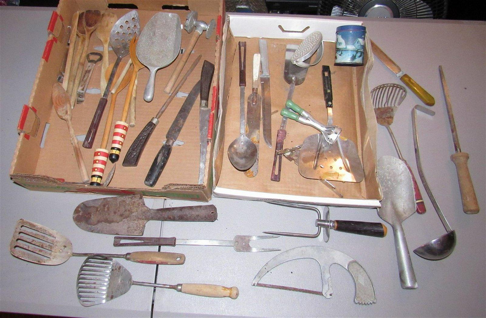 Vintage Kitchenware Misc Aluminum Scoop