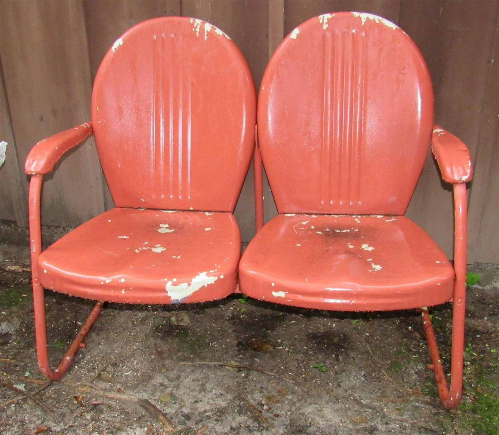 Double Metal Outdoor Patio Chairs
