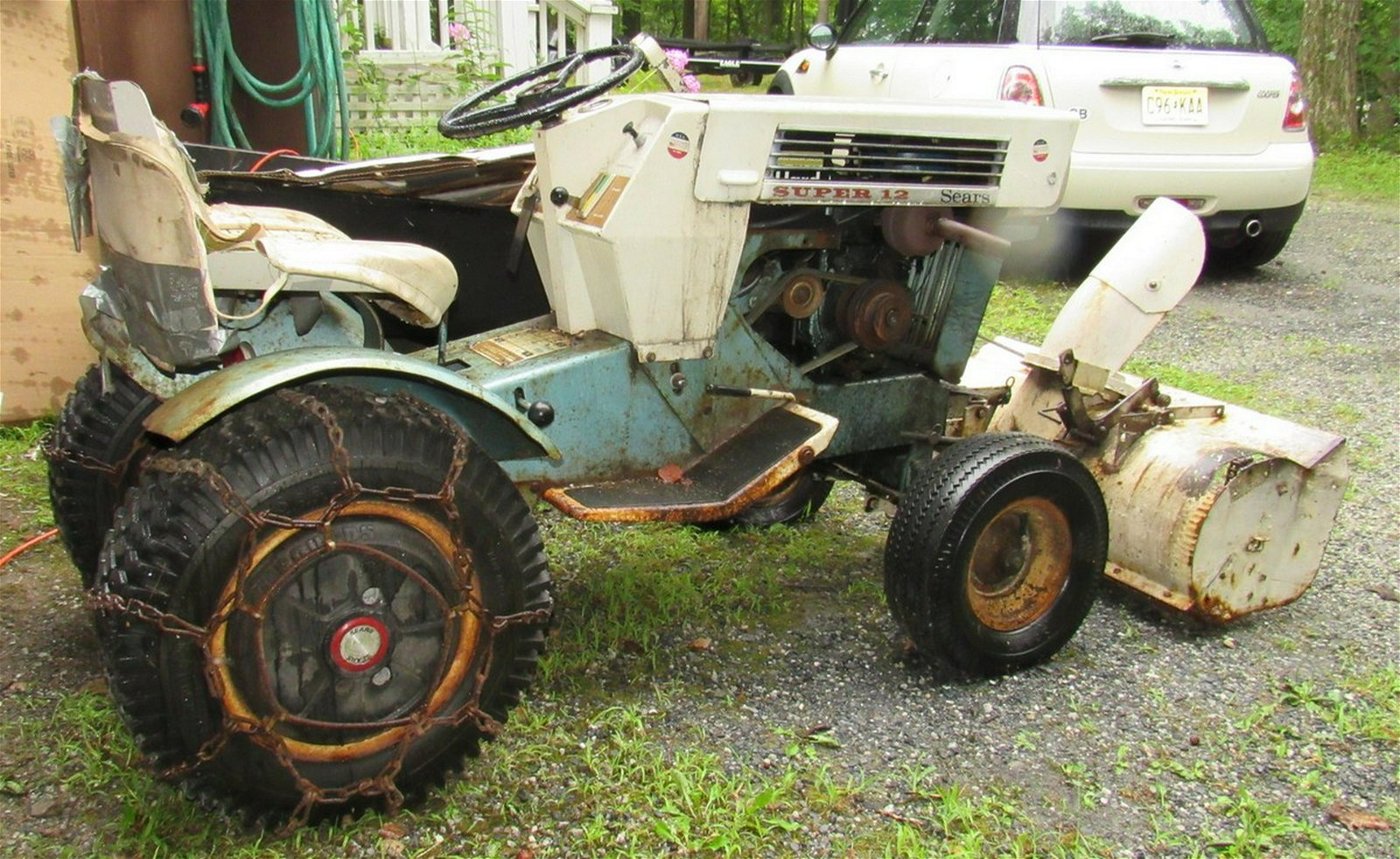 Sears Super 12 Garden Tractor with Snow Blower