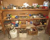 Brass Parts Scrap Iron Contents of Shelves