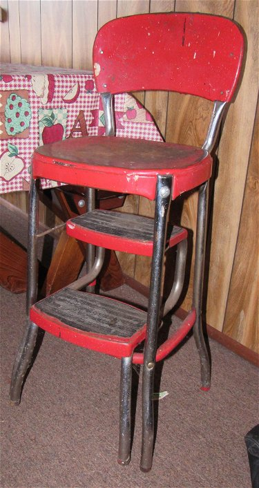 Surprising Vintage Cosco Utility Stool Squirreltailoven Fun Painted Chair Ideas Images Squirreltailovenorg