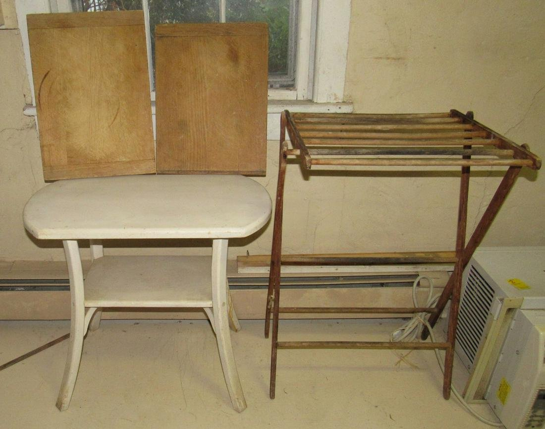 Drying Rack Table and 2 Cutting Boards