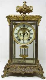 Brass Ansonia Crystal Regulator Clock