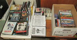 Boxes of DVD's & Cassette Tapes