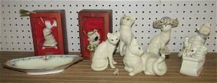 Lenox Cats Santa Claus Christmas Sleigh Snoop Ornament