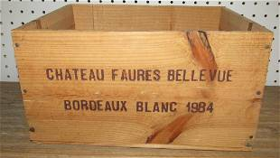 Chateau Faures Bellevue Wooden Crate