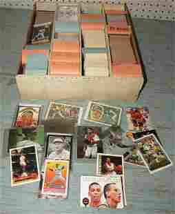 Box Full of Baseball Hockey Basketball Cards