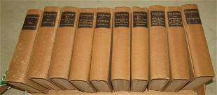 10 William Makepeace Thackery Sterling Edition Books