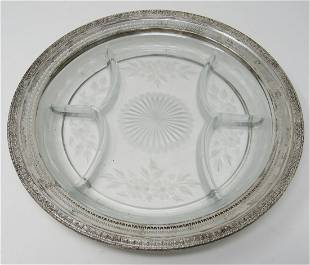 Divided Dish 1622 with Sterling Silver Band