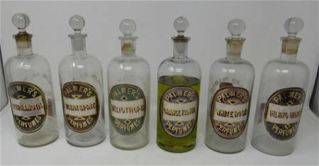 6 Palmer Perfumes Bottles