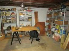 Partial Basement Contents Parts Cabinets