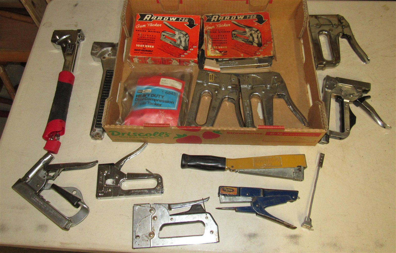 Lot of Misc Staplers