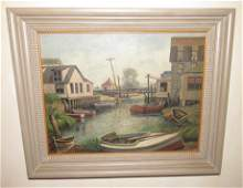Signed Oil on Board Painting Albert ???
