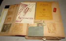 Large Scrap Book w/ Ephemora Photos Pinbacks