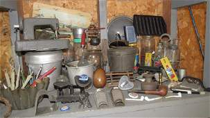 Vintage & Primitive Shelf Contents