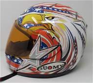 Suomy Motorcycle Helmet w/ Eagle Design