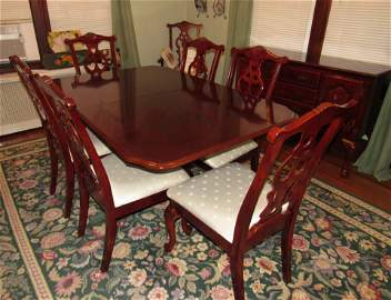 11 Piece Chippendale Style Dining Room Set