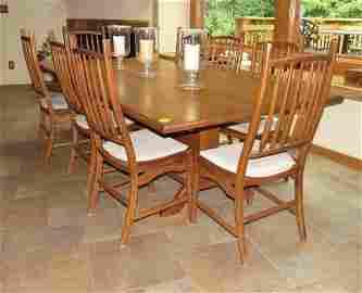 8 Hunt Furniture Oak Chairs