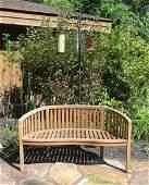 Southern Enterprises Wooden Garden / Patio Bench