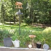 Bird Feeder Bath House Tub Planter