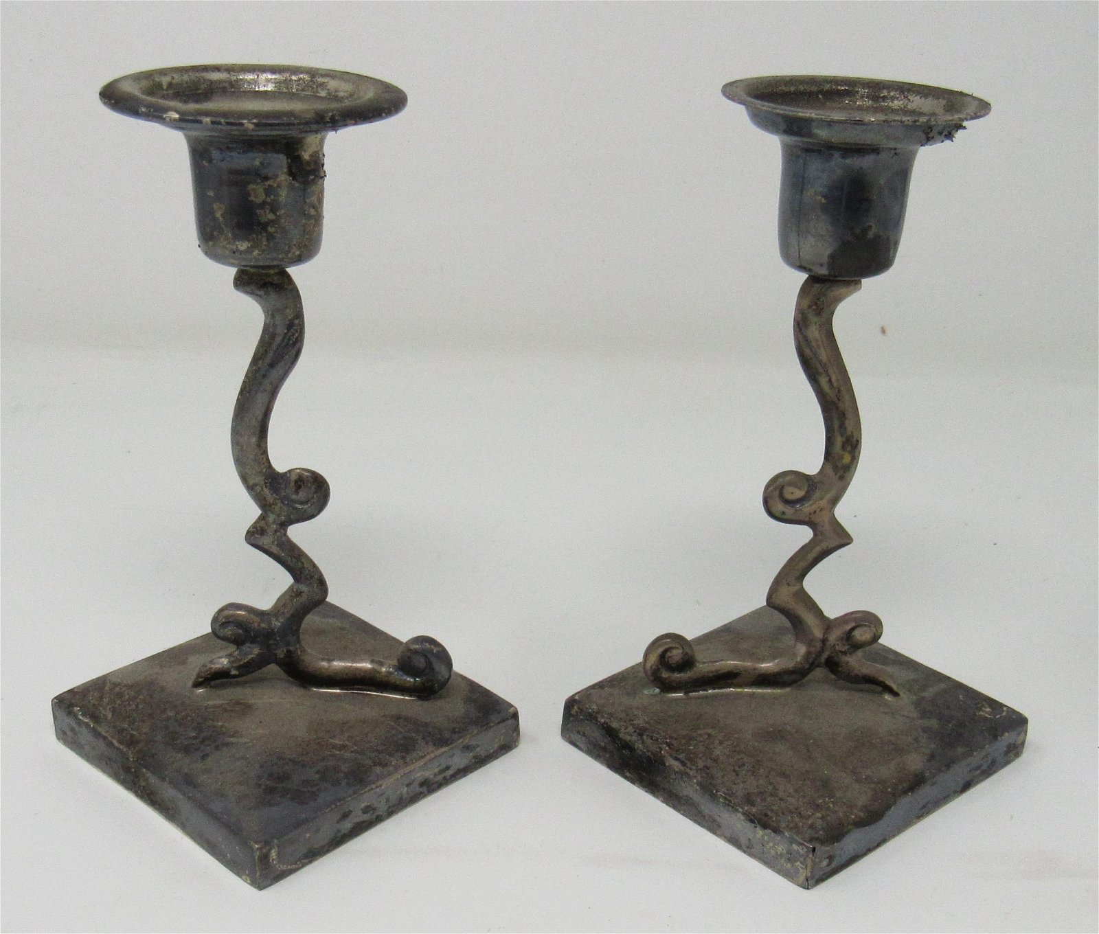 Juvento Lopez 925 Sterling Silver Candle Holders Sticks