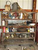 Rolling Shelf and Contents Airplane Parts & Misc