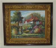 Oil Painting on Canvas Signed Dubois