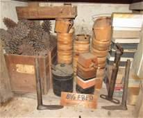 Fruit Baskets Cobblers Anvils Wood Crate Kerosene Can
