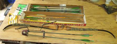 Recurve Bow Bear Quiver Wooden Arrows Browning