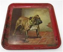 1908 Meek Co. St Vincent Bulldog Beer Tray