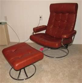 Ekornes Chair and Ottoman