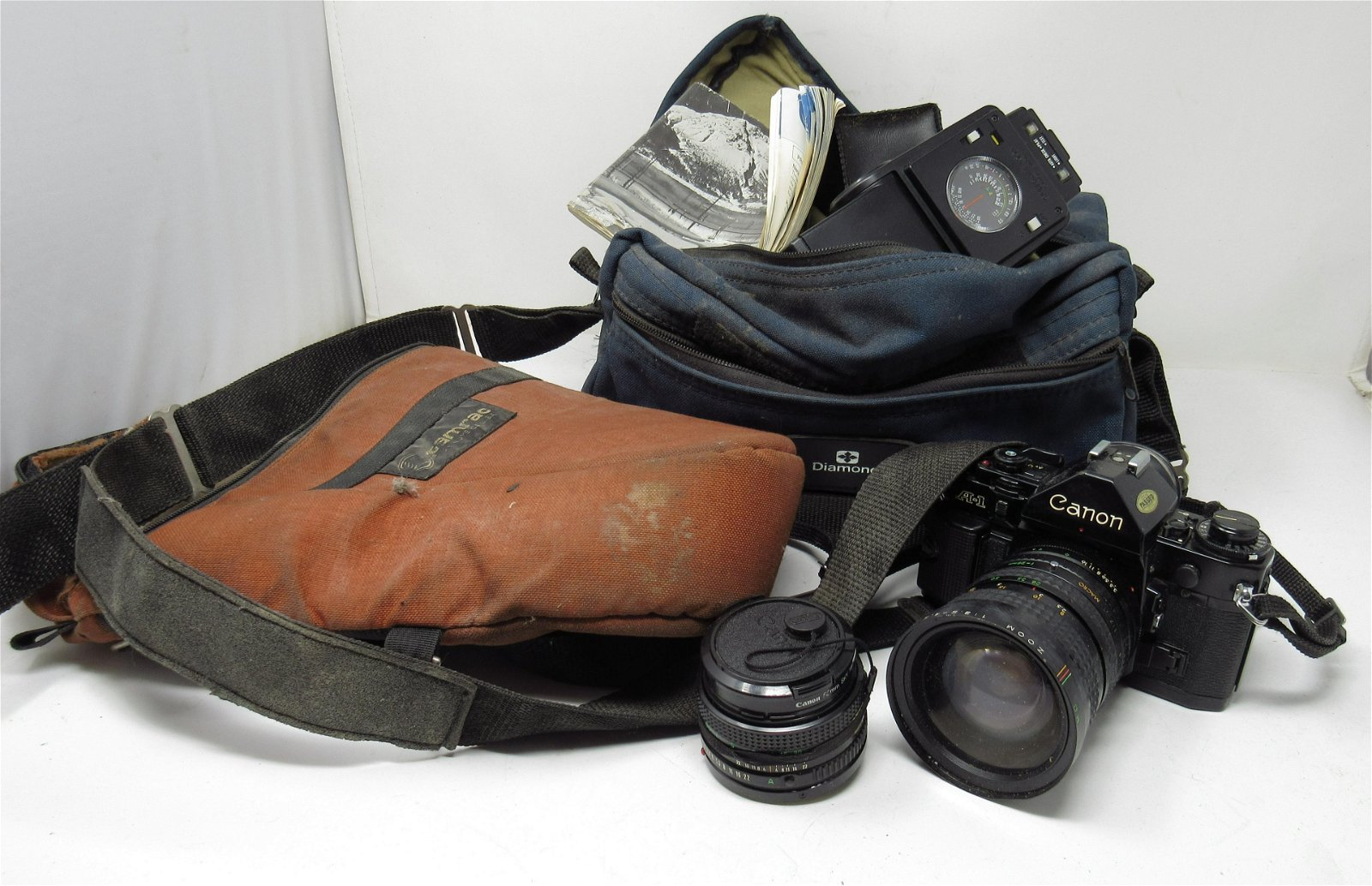 Canon A-1 Camera and Misc