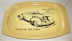 1974 ACD Club Enameled Tray