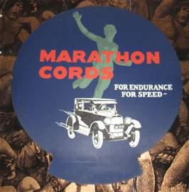 Marathon Cords Tire Display Sign