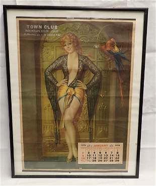 1938 Town Club Mountain View Ca Calendar