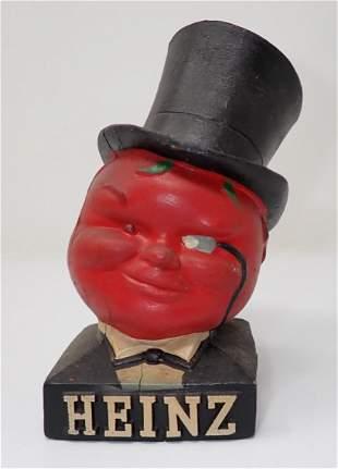 Heinz 57 Ketchup Chalkware Tomato Head Guy