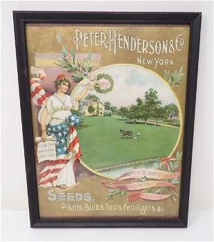 1897 Peter Henderson Seeds Litho
